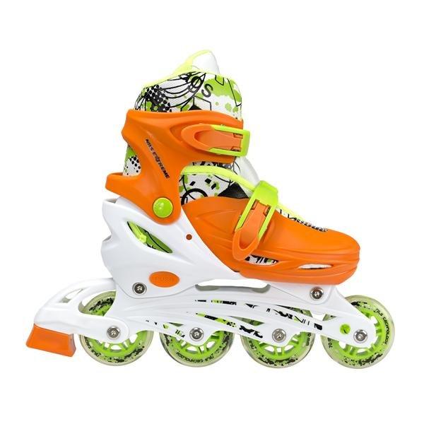 Oranžové dětské kolečkové brusle Nils Extreme - velikost 35-38 EU