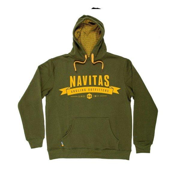 Zelená pánská mikina s kapucí Navitas