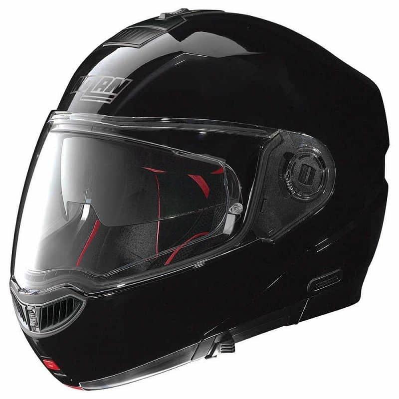 Černá helma na motorku Nolan