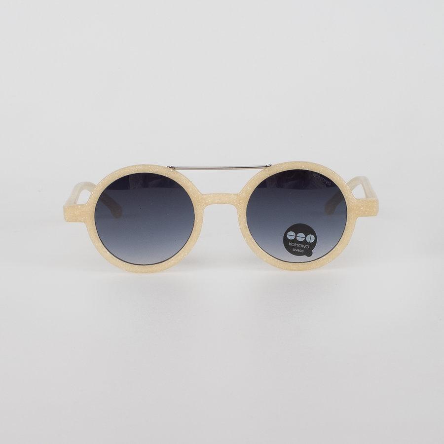 Béžová polarizační unisex sluneční brýle Vivien Neutro Sand, Komono