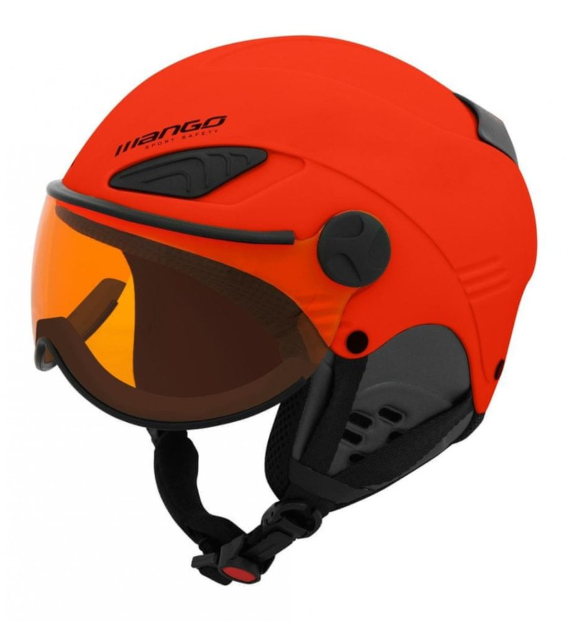 Červená dětská helma na snowboard Mango - velikost 48-52 cm