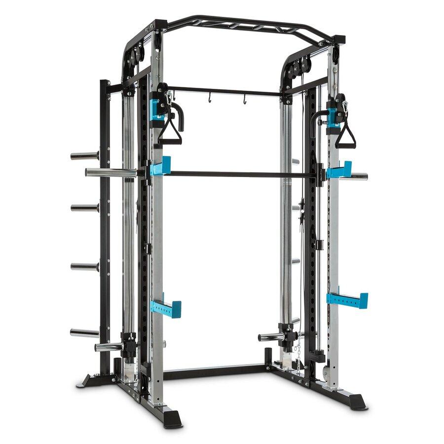 Posilovací věž - Capital Sports Amazor M, MasterSmith Machine, kladka, stojan, spotter ramena, J-háky