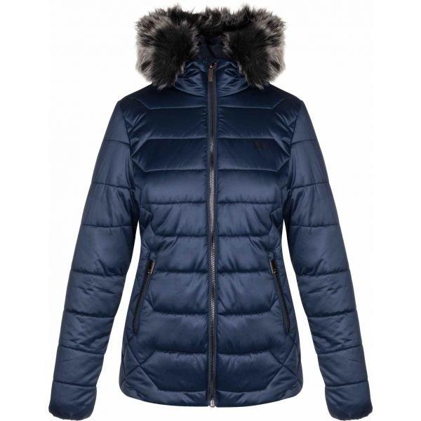 Modrá zimní dámská bunda s kapucí Loap