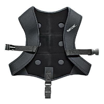 Černá zátěžová vesta Seac Sub - 6 kg