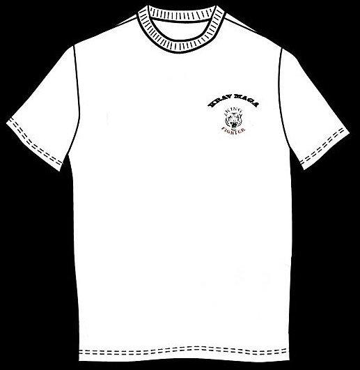 Bílé tričko s krátkým rukávem King fighter