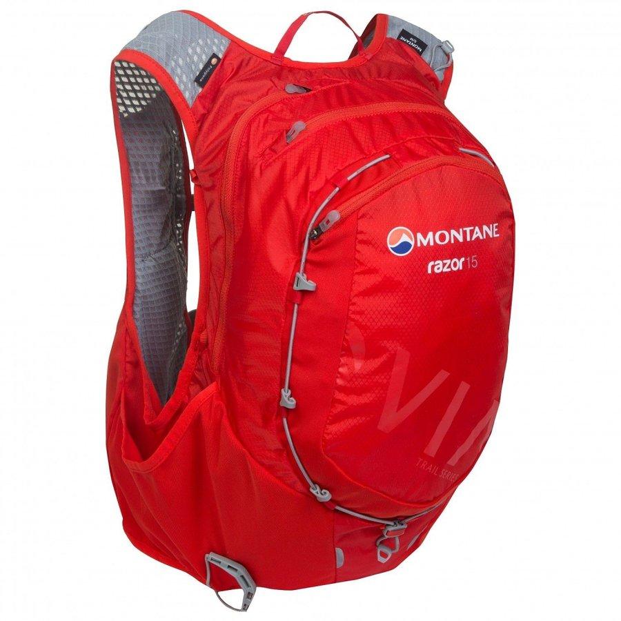 Červený běžecký batoh Montane - objem 15 l