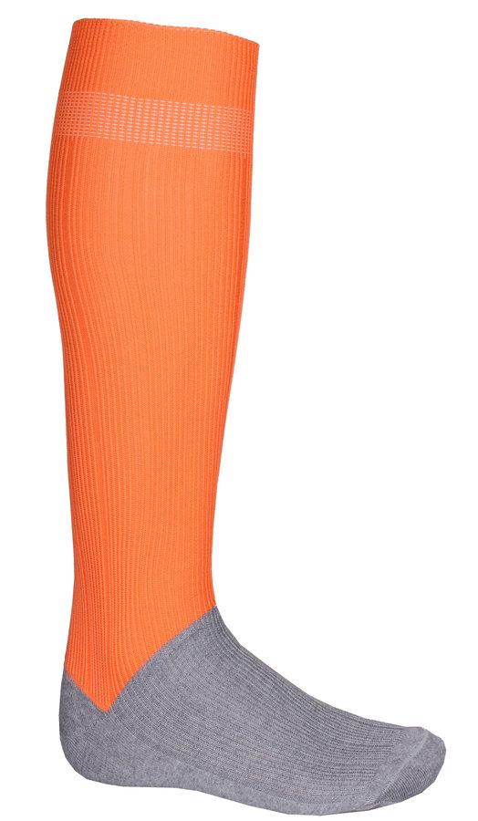 Oranžové fotbalové štulpny Classic, Merco - senior