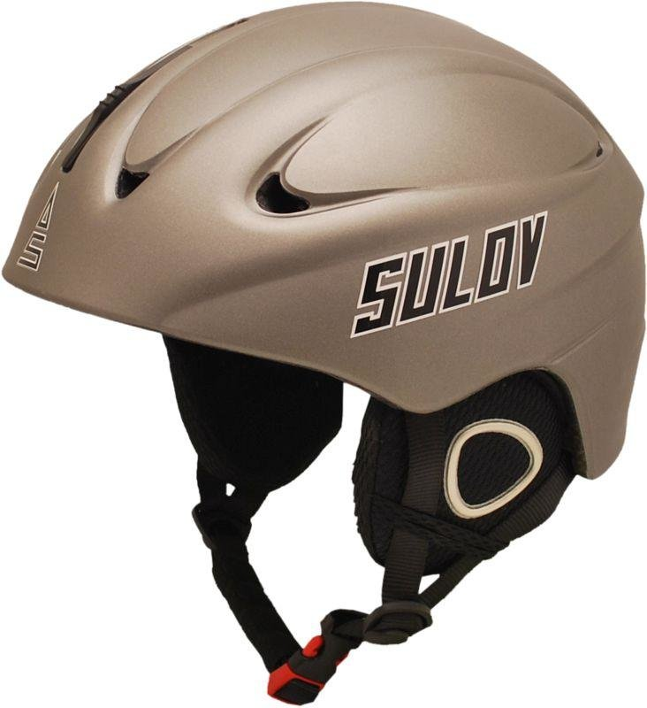Stříbrná lyžařská helma Sulov - velikost 53-54 cm