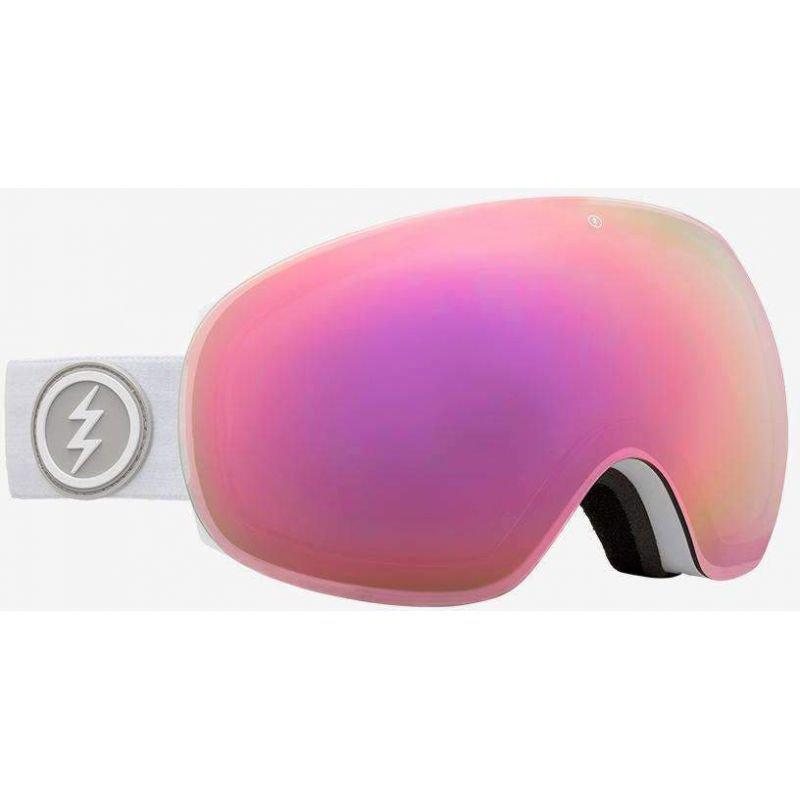 Bílé brýle na snowboard Electric