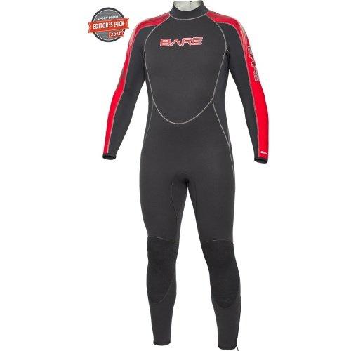 Červený pánský neoprenový oblek Velocity Full 5/4 Men, Bare - velikost XL a tloušťka 5 mm