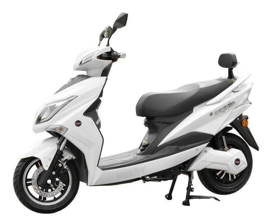 Bílá elektrická motorka EQUIS, HECHT