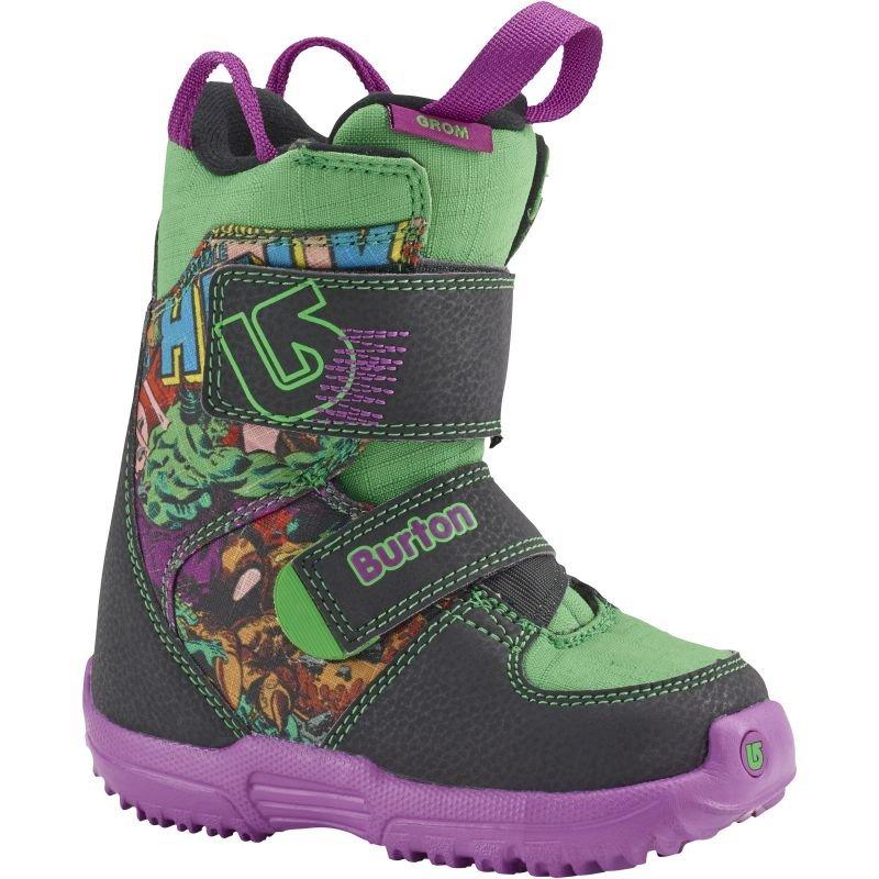 Zelené dětské boty na snowboard Burton - velikost 30,5 EU