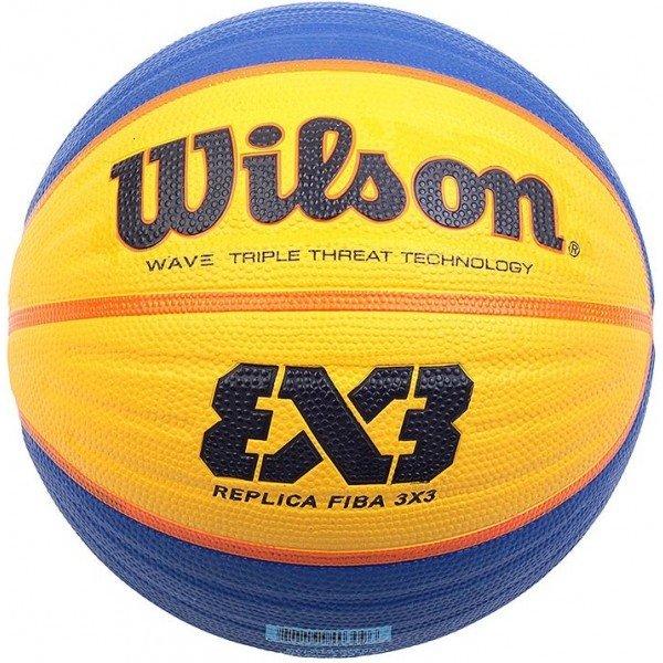 Modro-žlutý basketbalový míč Wilson