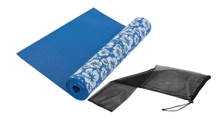 Modrá podložka na jógu Tunturi - délka 173 cm a tloušťka 0,3 cm