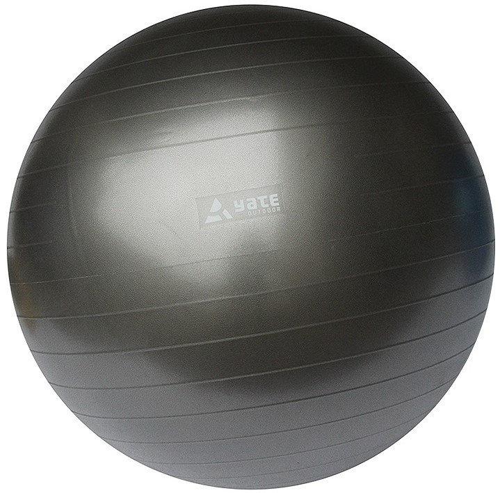 Šedý gymnastický míč s pumpou Yate - průměr 55  cm