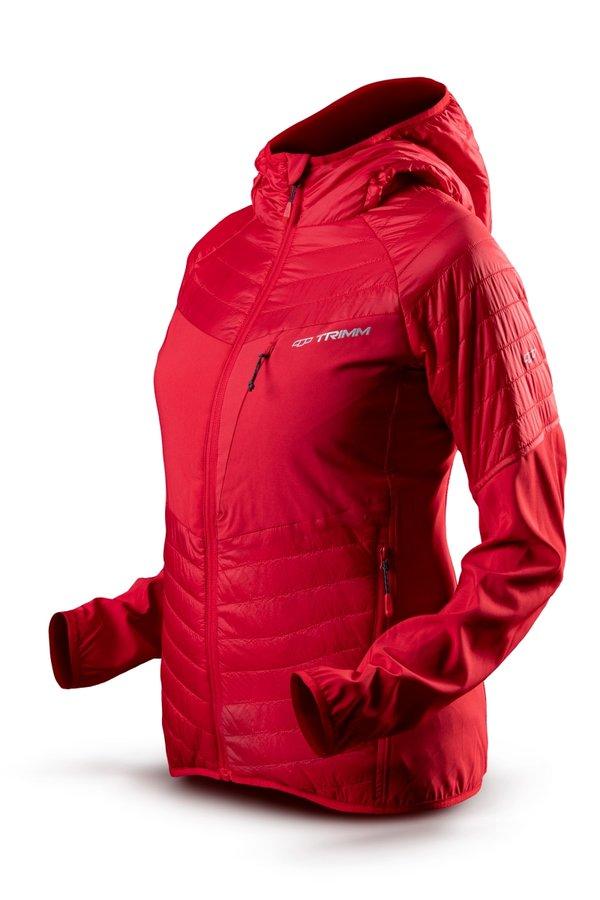 Červená zimní dámská bunda s kapucí Trimm - velikost XS