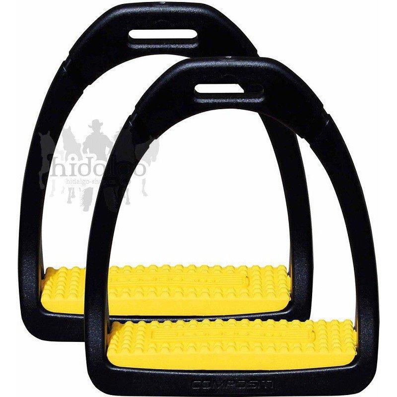 Žluté třmeny Compositi - šířka 10 cm