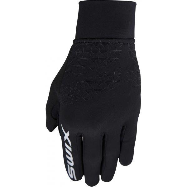 Černé dámské rukavice na běžky Swix - velikost 6