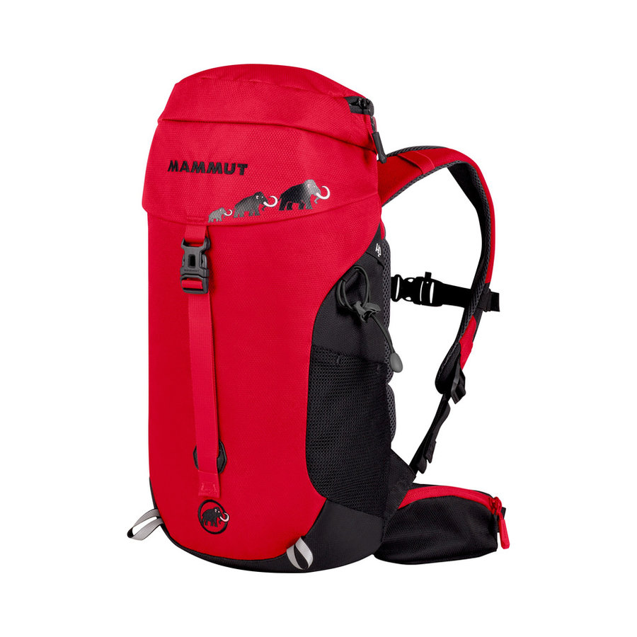 Černo-červený turistický batoh First Trion, MAMMUT - objem 18 l