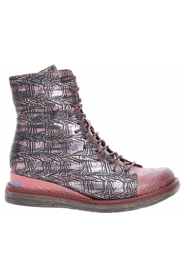 Červené dámské kotníkové boty Laura Vita
