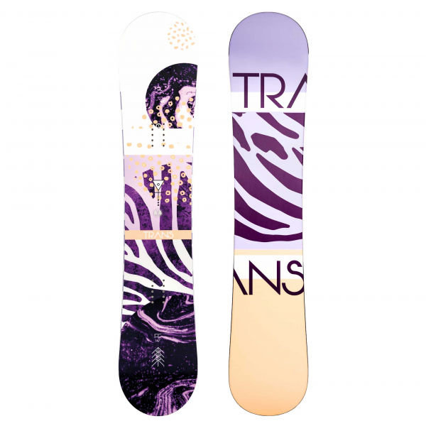 Bílo-fialový dámský snowboard bez vázání Trans