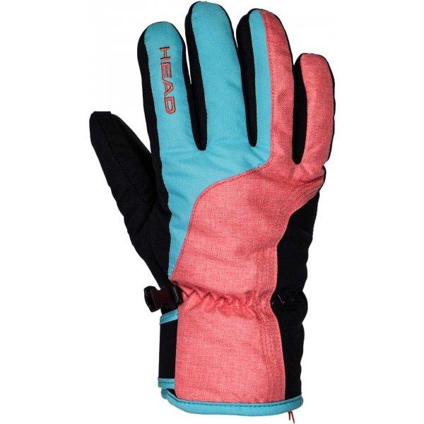 Různobarevné dámské lyžařské rukavice Head