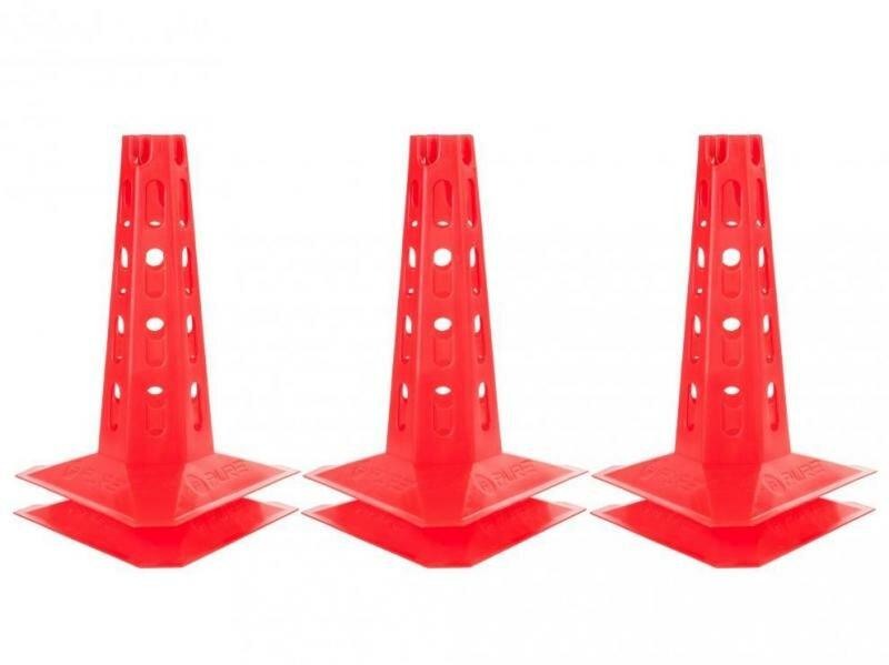 Červený tréninkový kužel Pure2Improve - 50 ks