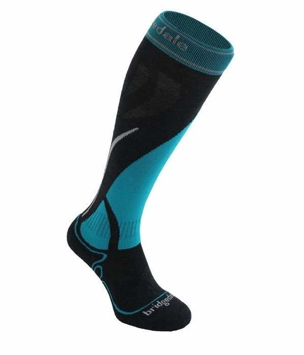 Černo-modré dámské lyžařské ponožky Bridgedale
