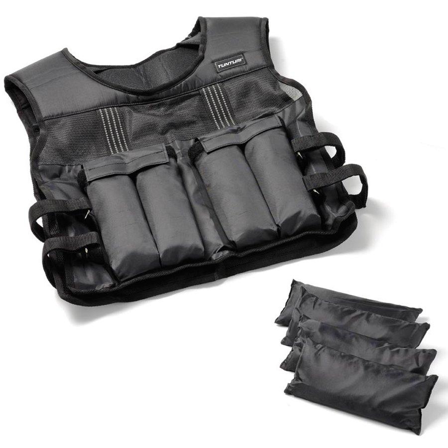 Černá zátěžová vesta Tunturi - 15 kg
