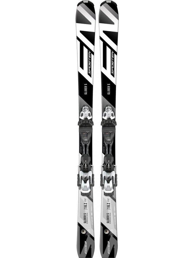 Bílo-černé freeridové lyže s vázáním Sporten - délka 170 cm