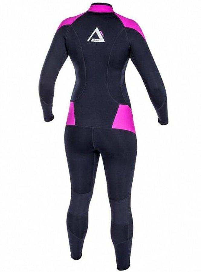 Černo-růžový dlouhý dámský neoprenový oblek Simply, Agama - velikost 44