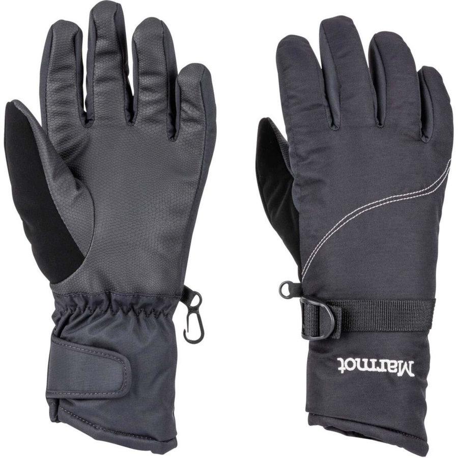 Šedé zimní dámské běžecké rukavice Marmot