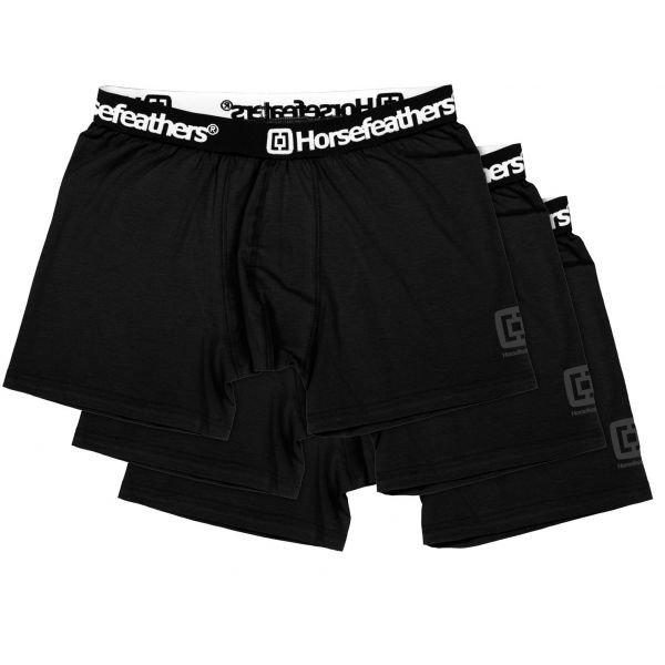 Černé pánské boxerky Horsefeathers - 3 ks