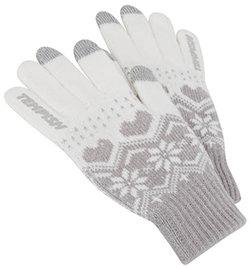 Bílé dámské zimní rukavice Tempish