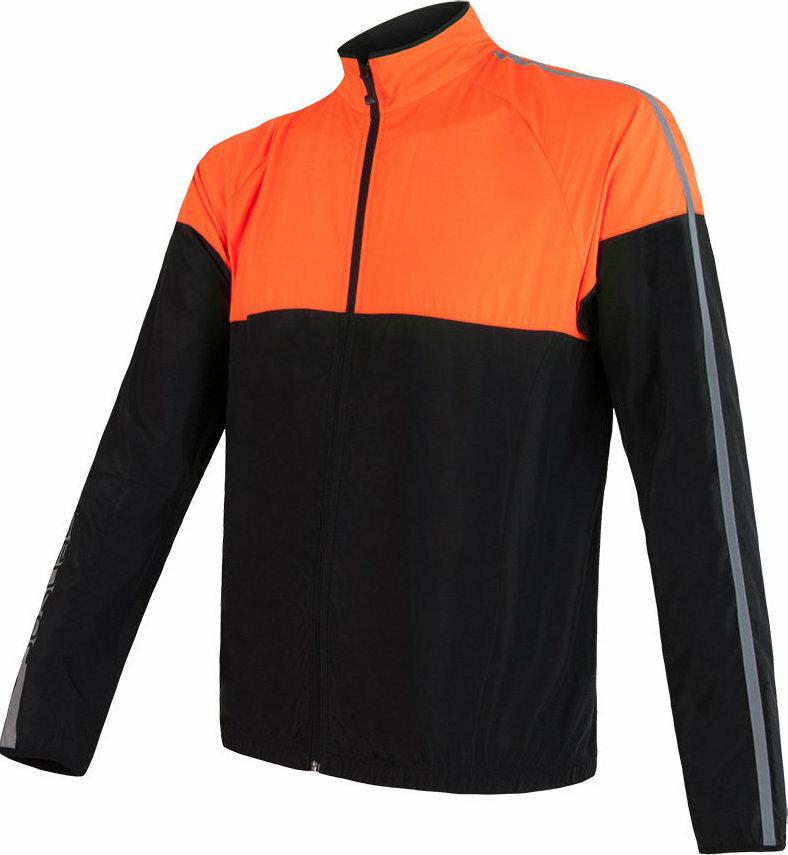 Černo-oranžová pánská cyklistická bunda Sensor
