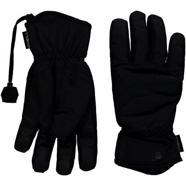 Černé pánské zimní rukavice O'Neill