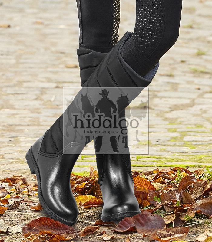 Černé zimní unisex jezdecké boty Waldhausen