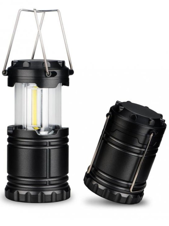 Černá solární lampa Sedco