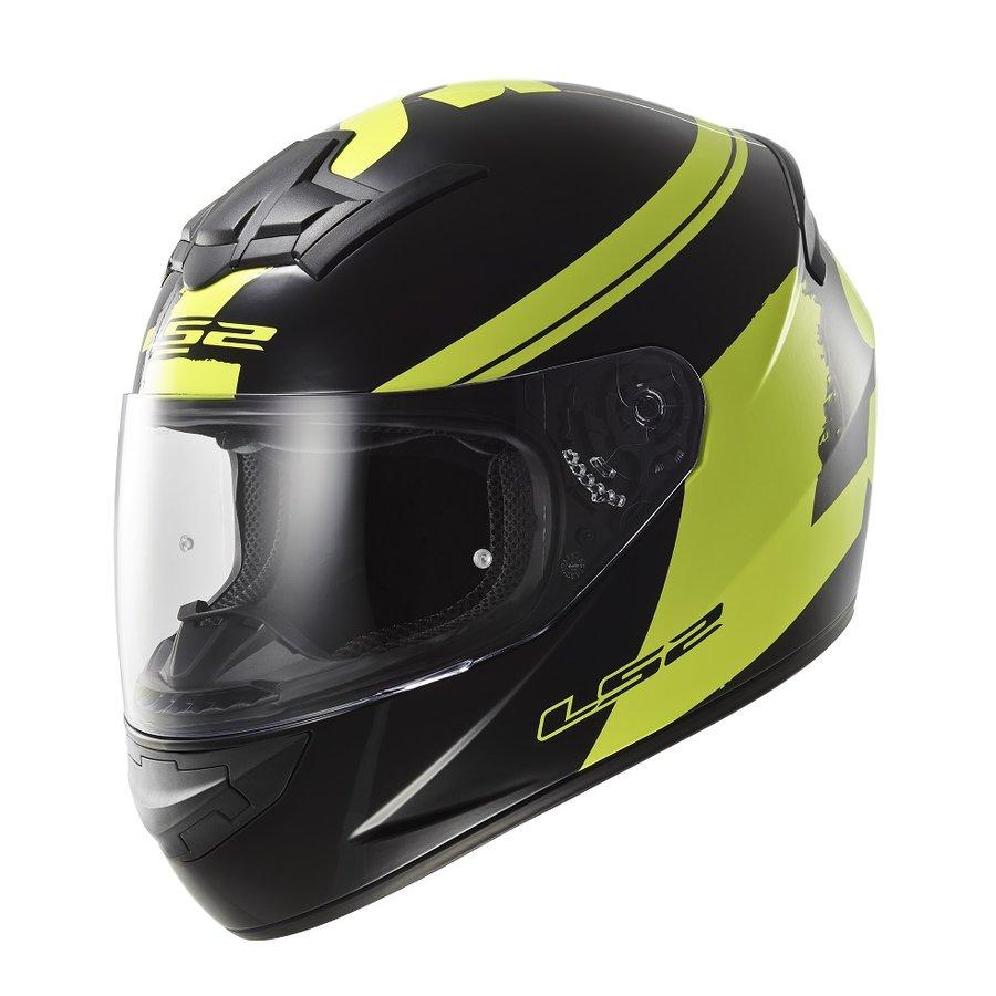 Černo-žlutá unisex helma na motorku FF352 Rookie Fluo, LS2