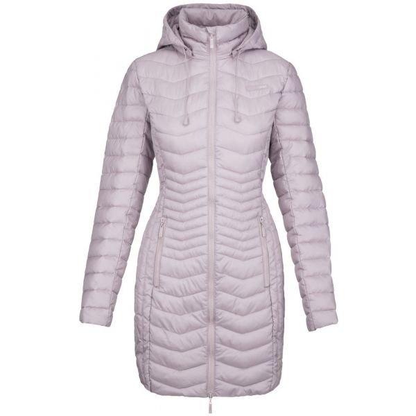 Růžový zimní dámský kabát Loap