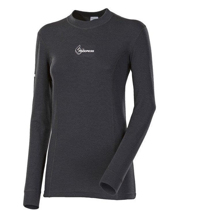 Černé dámské funkční tričko s dlouhým rukávem Progress - velikost M
