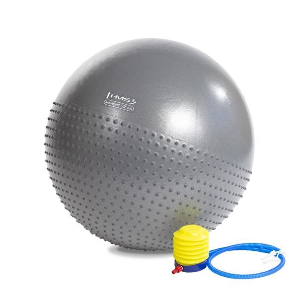 Stříbrný gymnastický míč HMS - průměr 65 cm