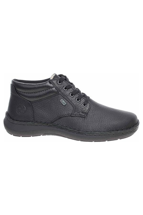 Černé pánské kotníkové boty Rieker