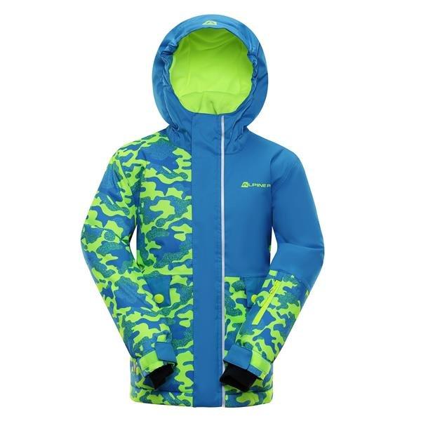 Modrá dětská zimní bunda s kapucí Alpine Pro - velikost 116-122