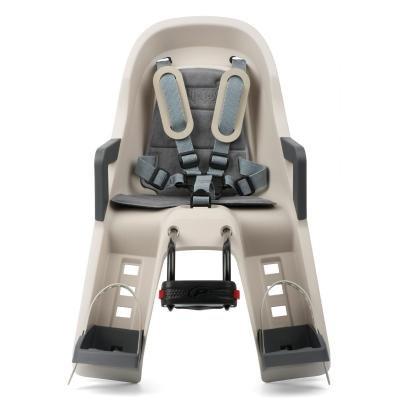 Béžová dětská sedačka na kolo přední umístění Polisport - nosnost 15 kg