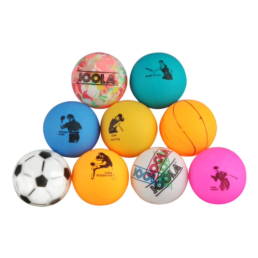 Různobarevný míček na stolní tenis Joola - 9 ks