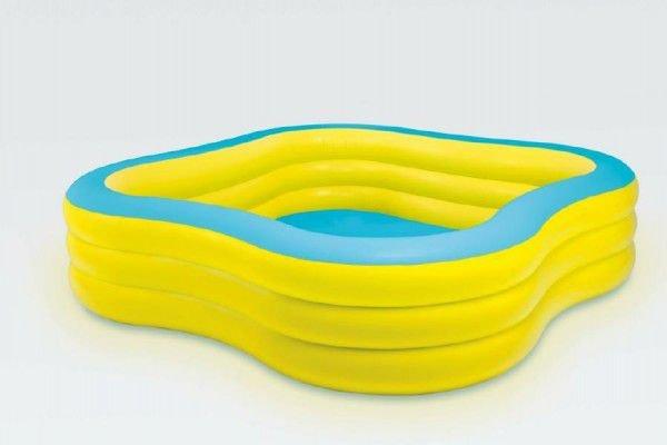 Nadzemní nafukovací čtvercový bazén INTEX - délka 229 cm, šířka 229 cm a výška 56 cm