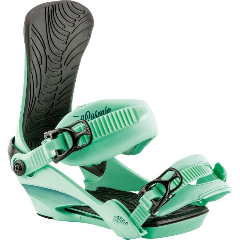 Zelené vázání na snowboard Nitro - velikost S-M