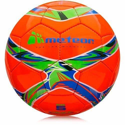 Fotbalový míč - Meteor 360 Shiny barva: oranžová;velikost míče: č. 5