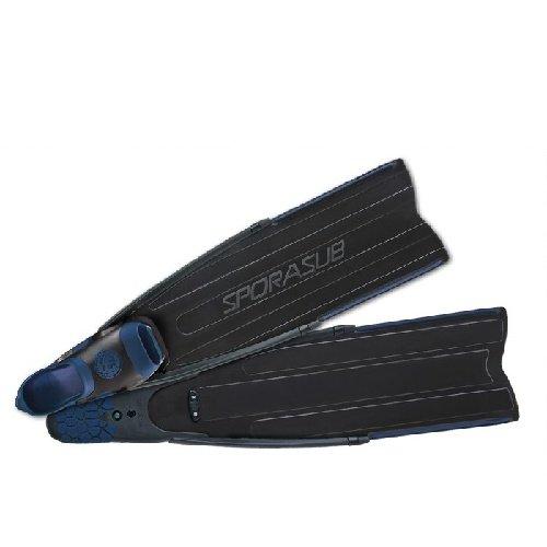 Černé dlouhé freedivingové ploutve Spitfire Black Fins Lady, Sporasub - velikost 37-39 EU
